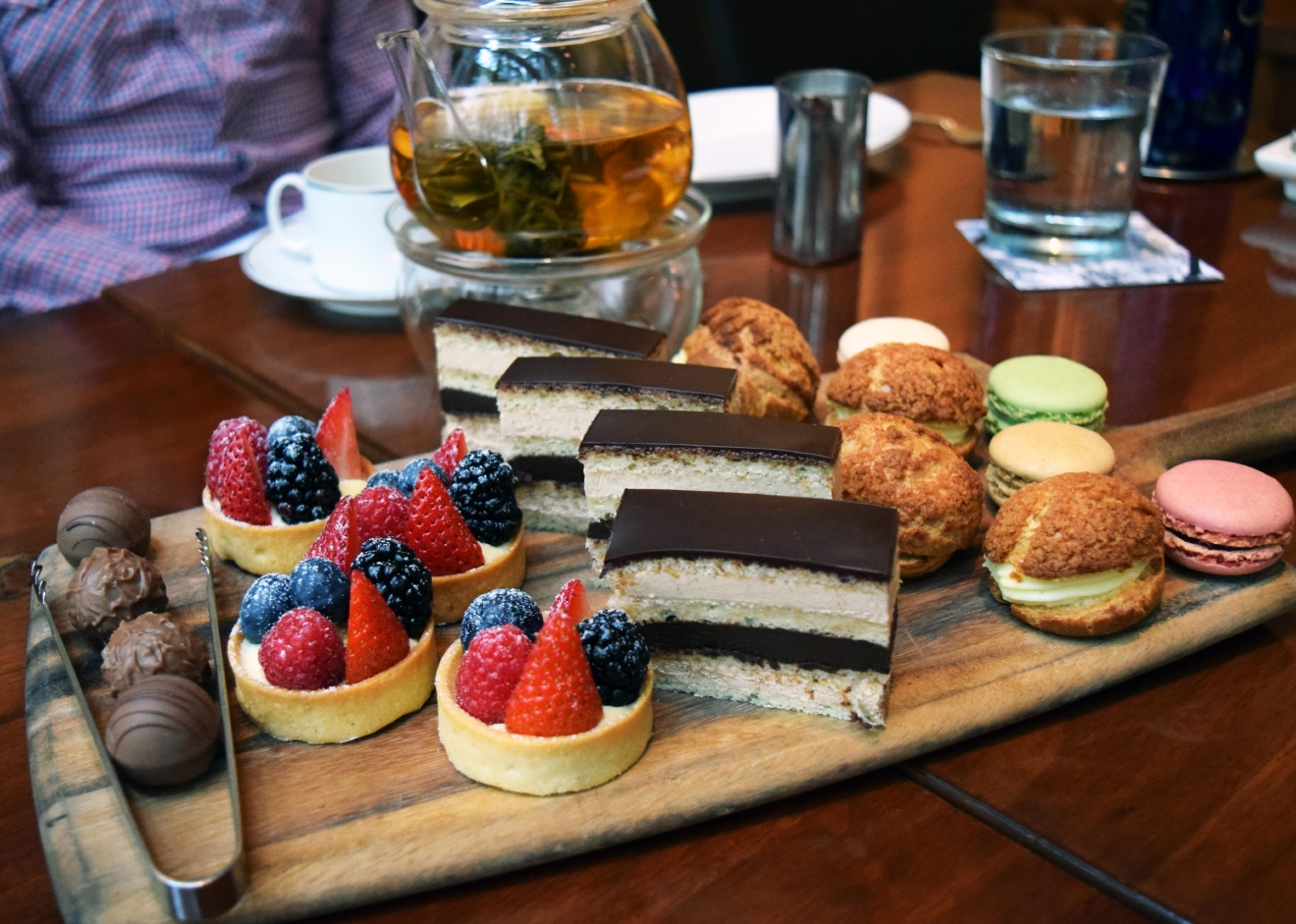 Any tea priced up to $14 is included in the price of the tea; for higher priced offerings, $14 is deducted from their price and you pay the difference. (Park Hyatt)