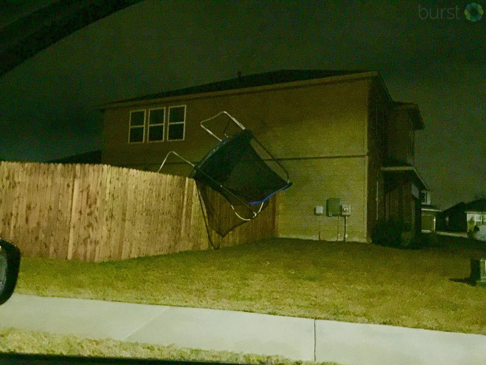 Damage in Kensington Trail, Kyle.  (Courtesy: CBS Austin viewer Amanda)