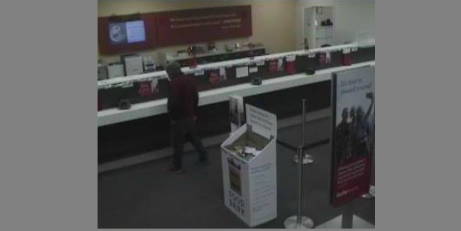 Police are searching for a man wanted for a bank robbery at a Wells Fargo Bank branch on Dec. 22, 2017 in Arlington, Va.  Wednesday, Jan. 3, 2018 (Arlington Police/Twitter)