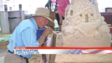 6-foot-tall sand sculpture at I-10 Welcome Center