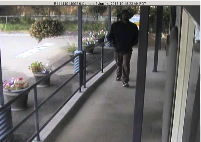 Surveillance image of suspect in Scott Valley Bank armed robbery. (Siskiyou County Sheriff's Office)