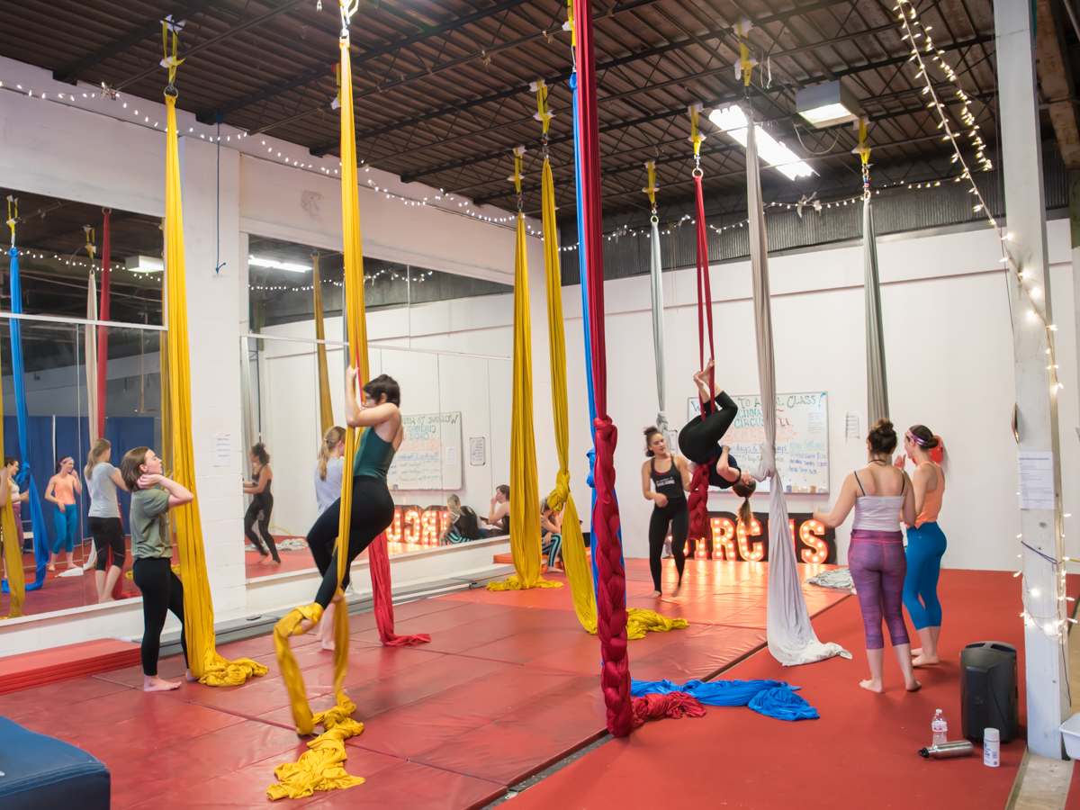 Take a class with Cincinnati Circus! Yes, you heard that correctly. Train with the professionals and learn the beginning steps of aerial fitness! Several classes are offered, and are designed for everyone—from beginners and children to advanced aerial acrobats. ADDRESS: 6433 Wiehe Road (45237) / Image: Sherry Lachelle Photography // Published: 1.6.19