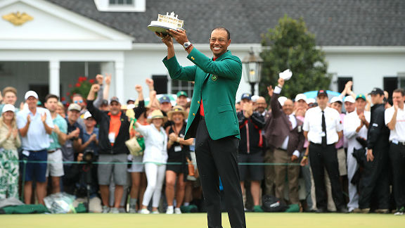 Tiger Woods earned his fifth Masters title and his first since 2005.