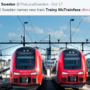 Sweden accepts popular vote, names new train 'Trainy McTrainface'