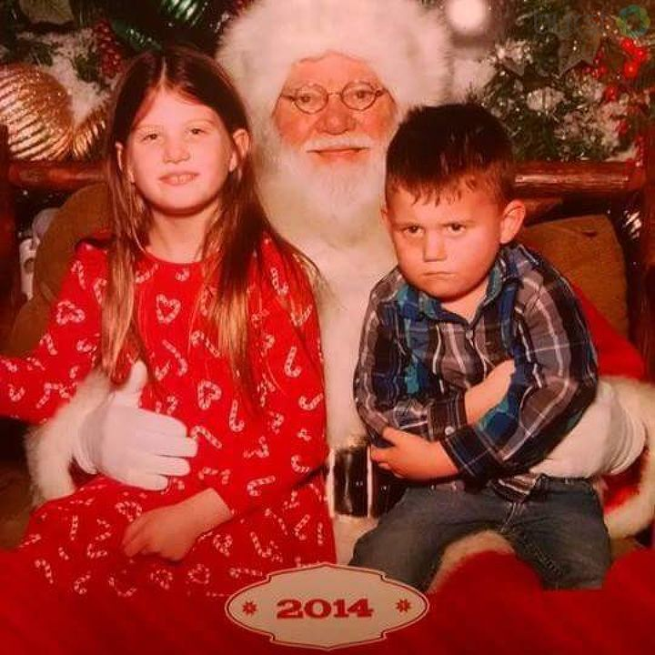 Christmas 2014: This little guy is not happy to see Santa. Photo courtesy of Elizabeth Eveleth