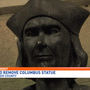 Protesters call for removal of Lancaster County Columbus statue