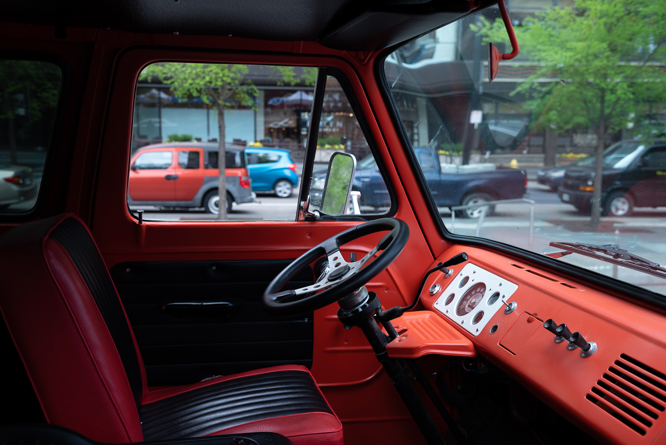 The cab of the old truck Megan uses to transport her flowers / Image: Phil Armstrong, Cincinnati Refined // Published: 5.5.19