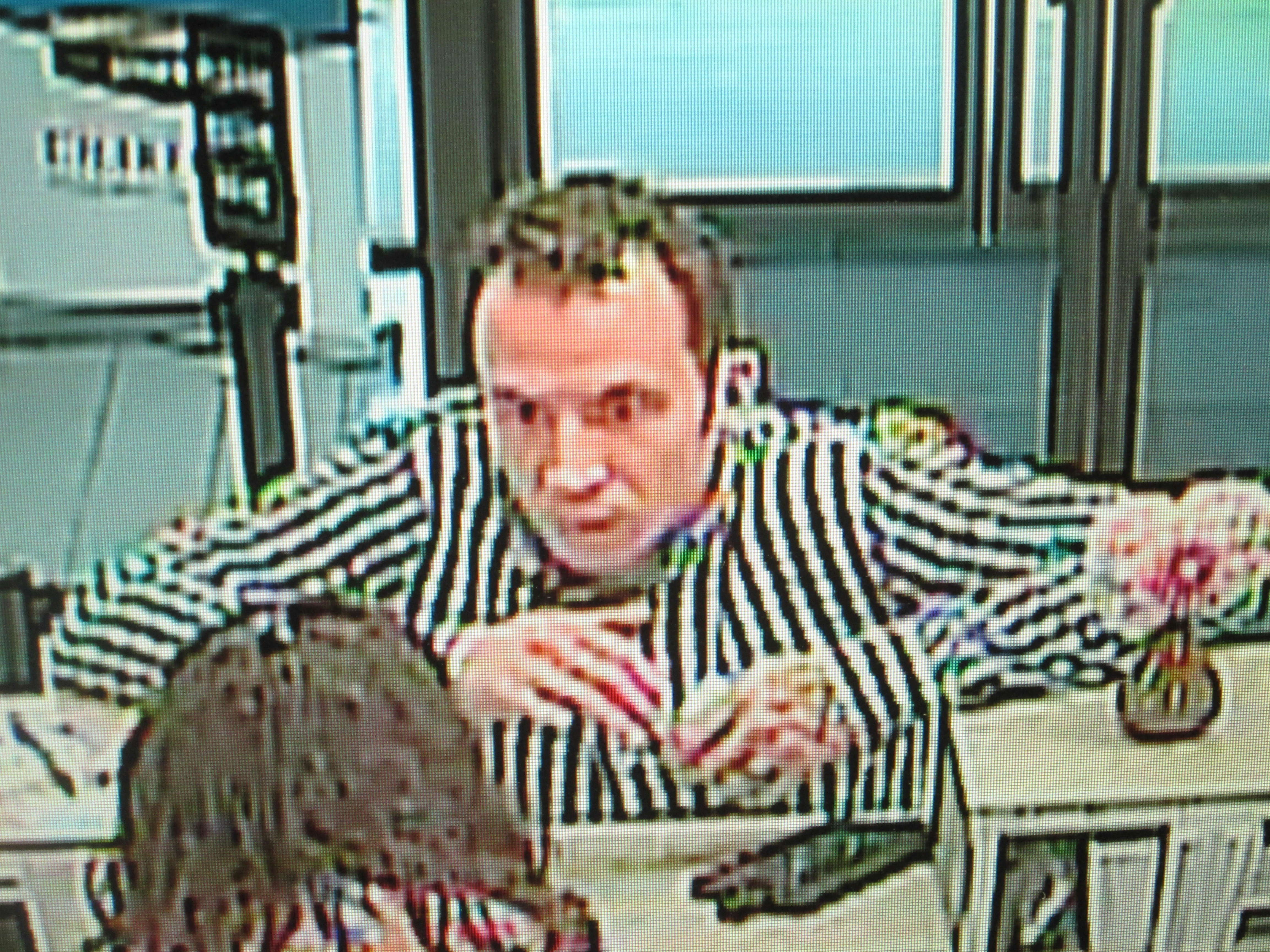South Kingstown Police searching for credit union robbery suspect. (Photo courtesy South Kingstown Police Dept.)