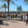 2-mile long lei delivered to memorial at Welcome to Las Vegas sign