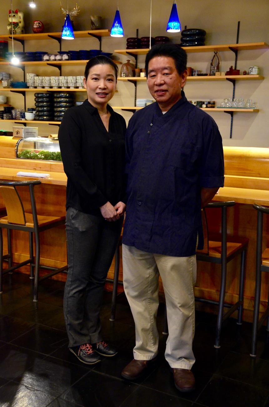 Junko and Masashi Nishizume, owners of Miyoshi Restaurant / Image: Leah Zipperstein, Cincinnati Refined // Published: 10.15.17