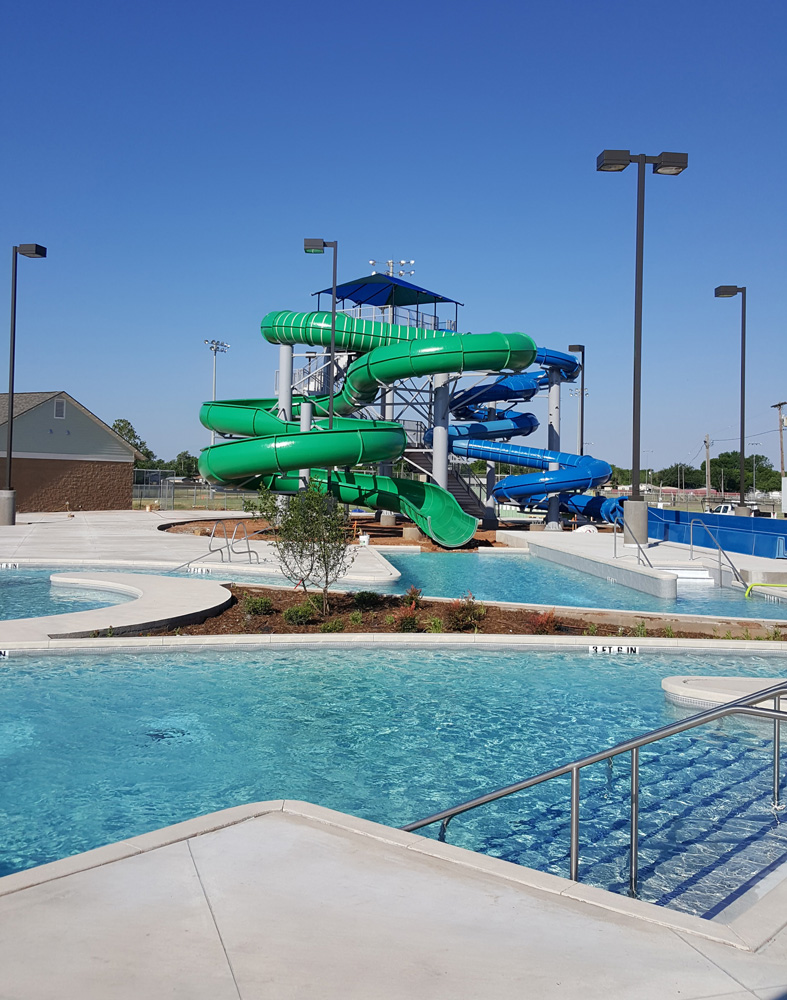Adventure Cove, the new aquatics center at Rose Park, as of May 19, 2017. It is scheduled to open in mid-June. (Courtesy: City of Abilene)
