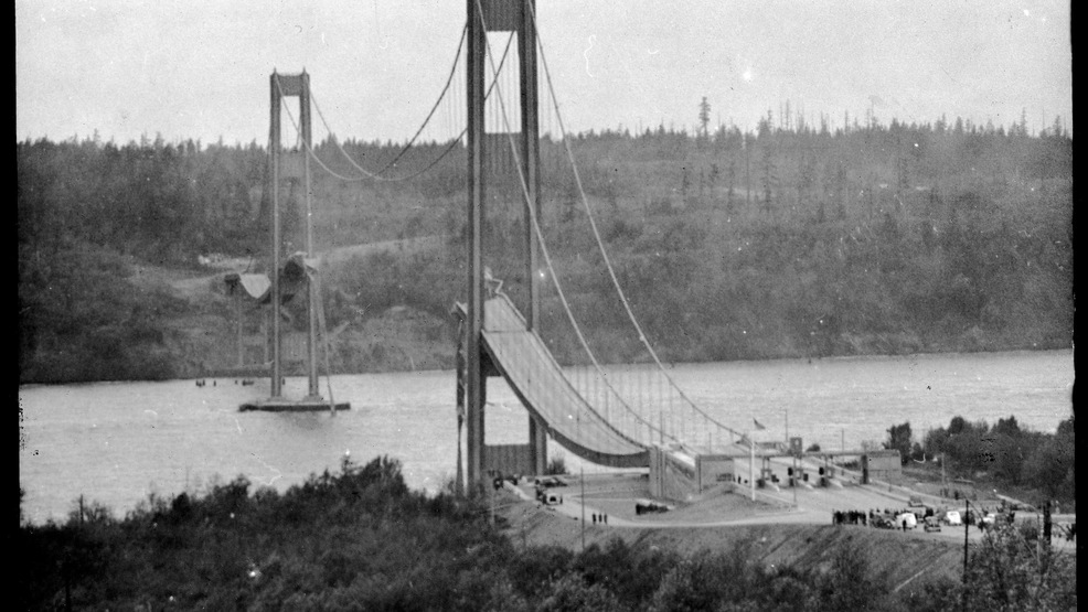 77 years ago Tuesday, Tacoma's 'Galloping Gertie' bridge spectacularly collapsed