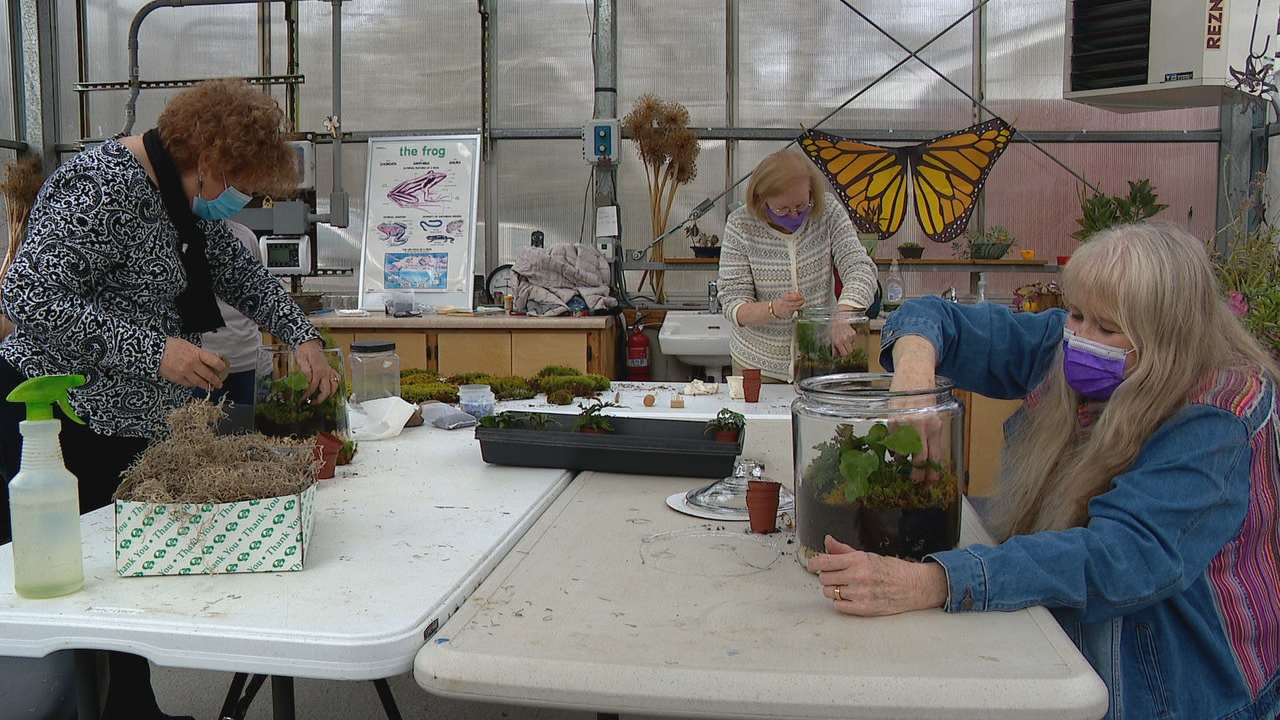 Bullington Gardens in Hendersonville offers numerous classes each month. (Photo credit: WLOS staff)