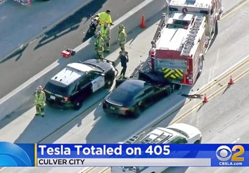 NTSB: Tesla on Autopilot when it hit California firetruck