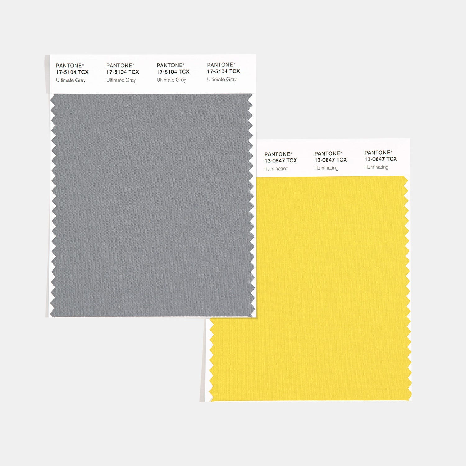 The Pantone Colors of the Year 2021 are{ }Ultimate Gray and Illuminating. (Image: Pantone)