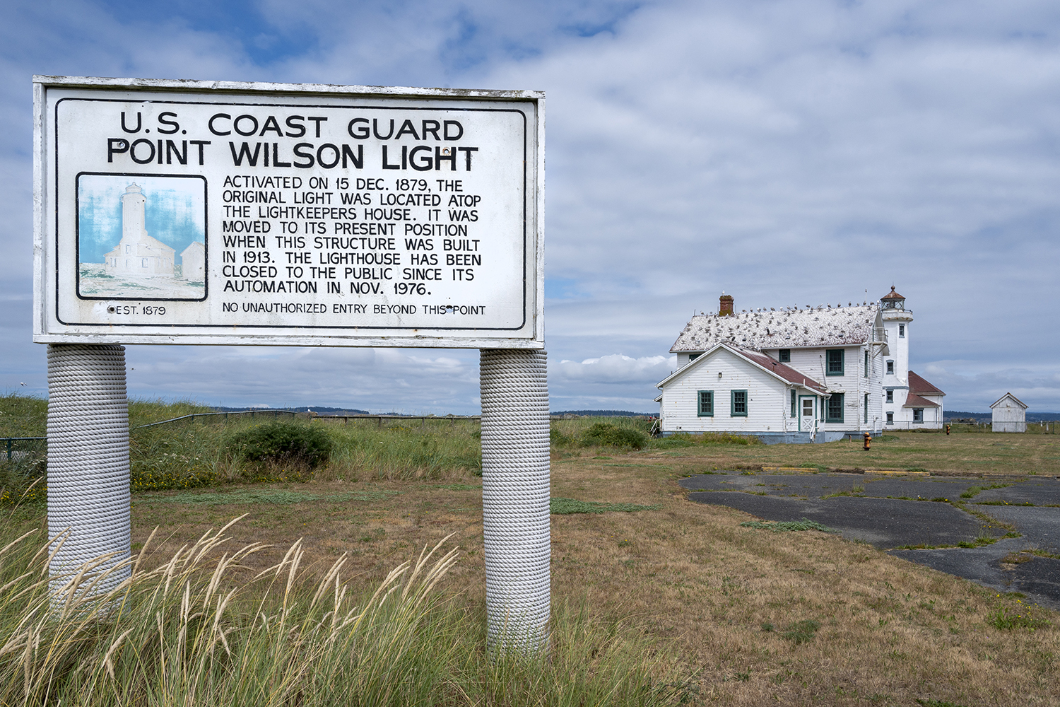 While the lighthouse is still owned and operated by the U.S. Coast Guard, as of 2020, the United States Lighthouse Society now offers overnight stays in a renovated, four-bedroom, two-bath chief's quarters vacation rental. (Image: Rachael Jones / Seattle Refined)