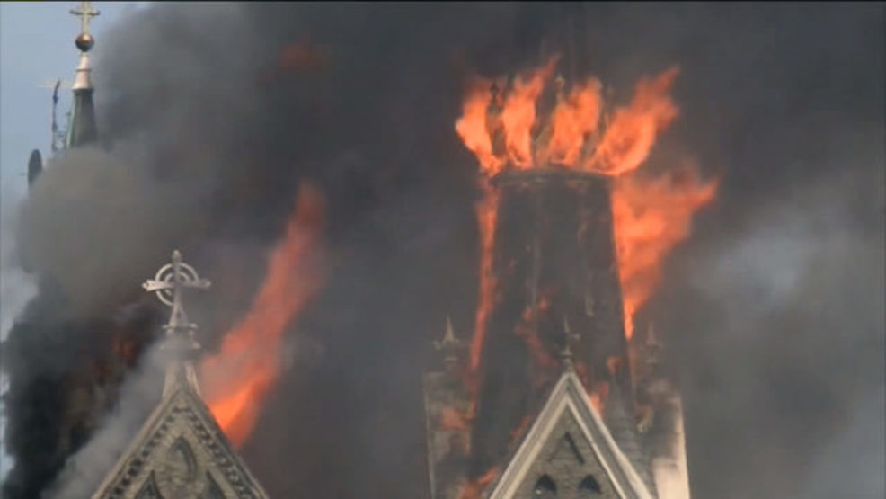 Trinity Lutheran Church fire in Milwaukee Wisconsin Photo - WITI via CNN.jpg