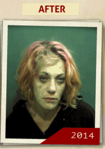 This 2014 photo was taken of a woman  who reportedly had a 'possession of heroin' charge. (Photo, info from rehabs.com/)