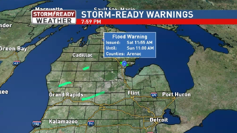 Flood Warning In Effect For Arenac County  WSMH