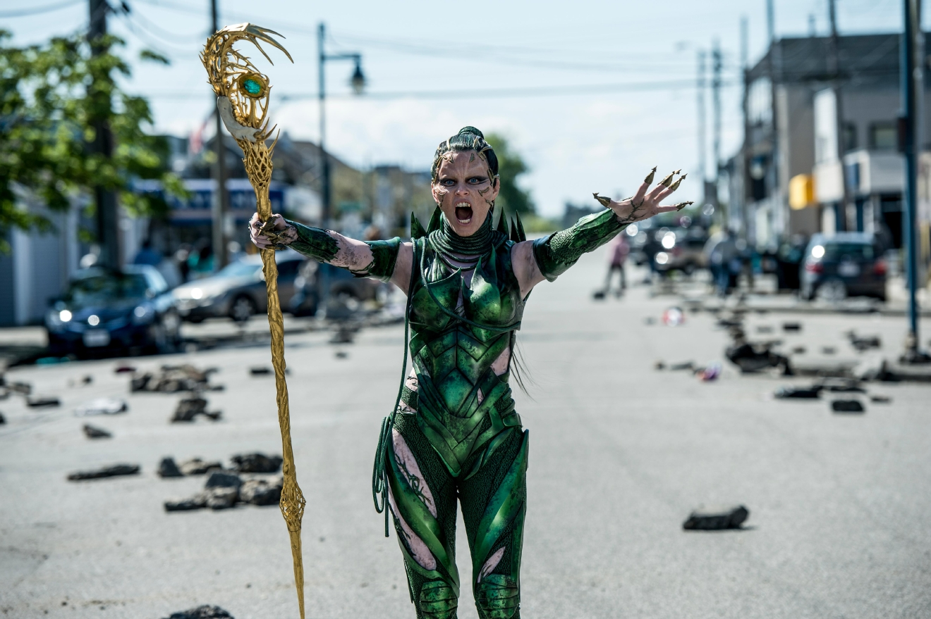 "Elizabeth Banks stars as 'Rita Repulsa' in ""Power Rangers."" Photo Credit: Kimberley French"
