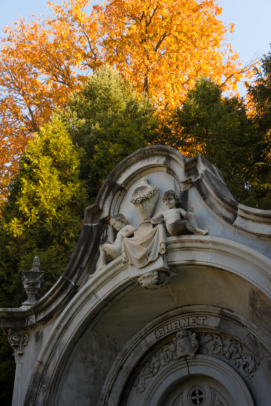 Spring Grove Cemetery is the second largest cemetery in the United States. Designated as a national historic landmark, it's one of the most striking places you can go for a walk in autumn. / ADDRESS: 4521 Spring Grove Ave, Cincinnati, OH 45232 / IMAGE: Phil Armstrong, Cincinnati Refined // PUBLISHED: 11.11.16