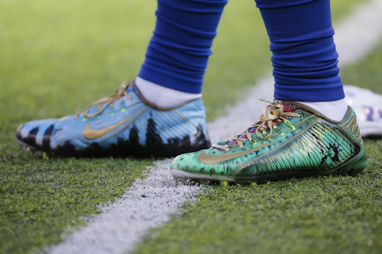 Odell Beckham Jr. said he was fined for wearing cleats that honored ...