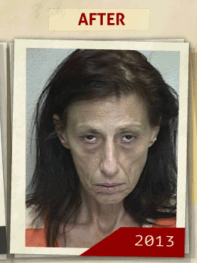 This 2013 photo was taken of the same woman  who reportedly had a 'possession of cocaine' charge. (Photo, info from rehabs.com/)