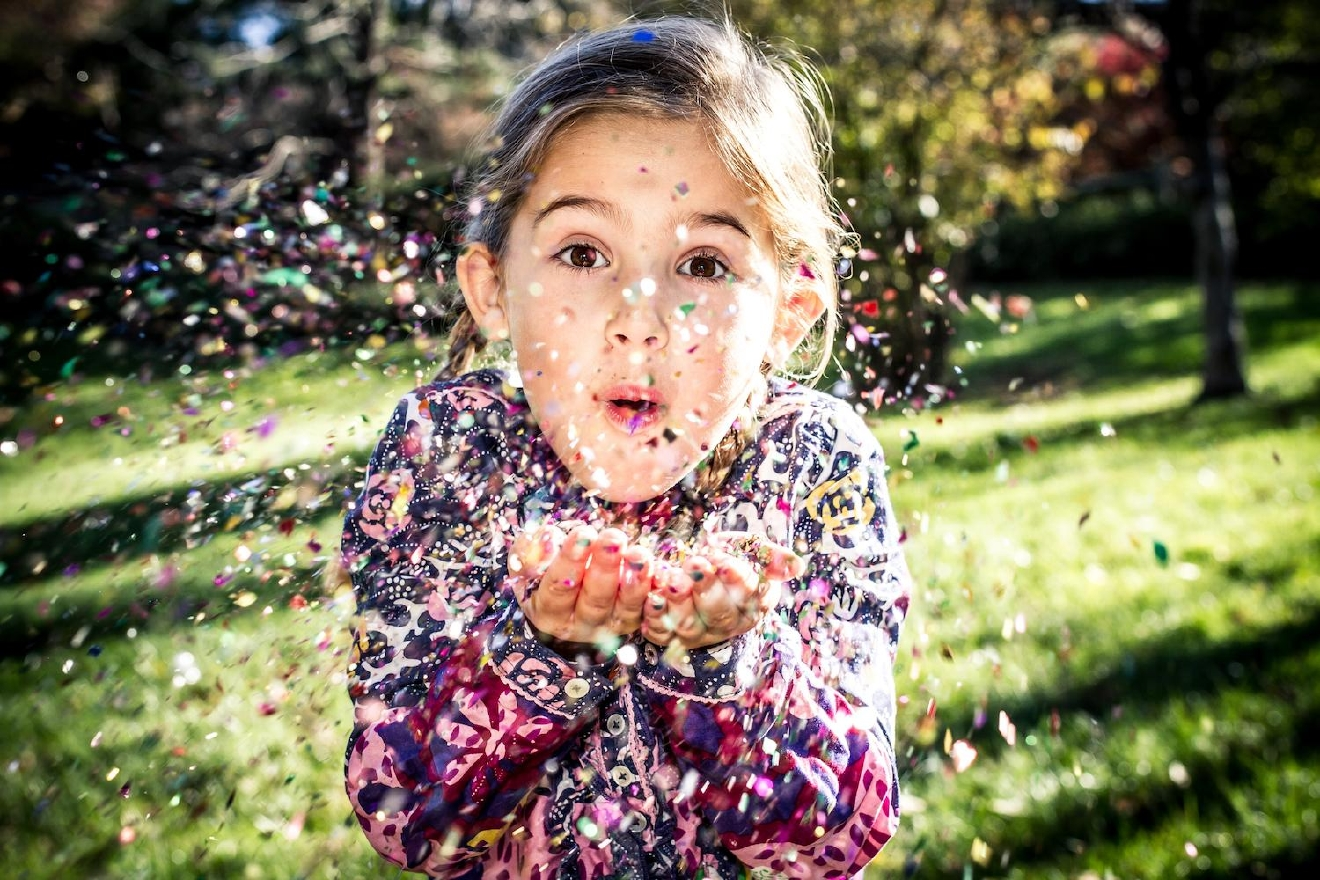 My muse blowing glitter confetti / Image: Amy Elisabeth Spasoff / Published: 12.19.16