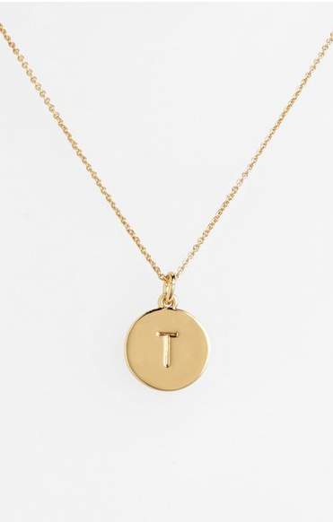 kate spade new york 'one in a million' initial pendant necklace ($58.00). Find on nordstrom.com. (Image courtesy of Nordstrom)