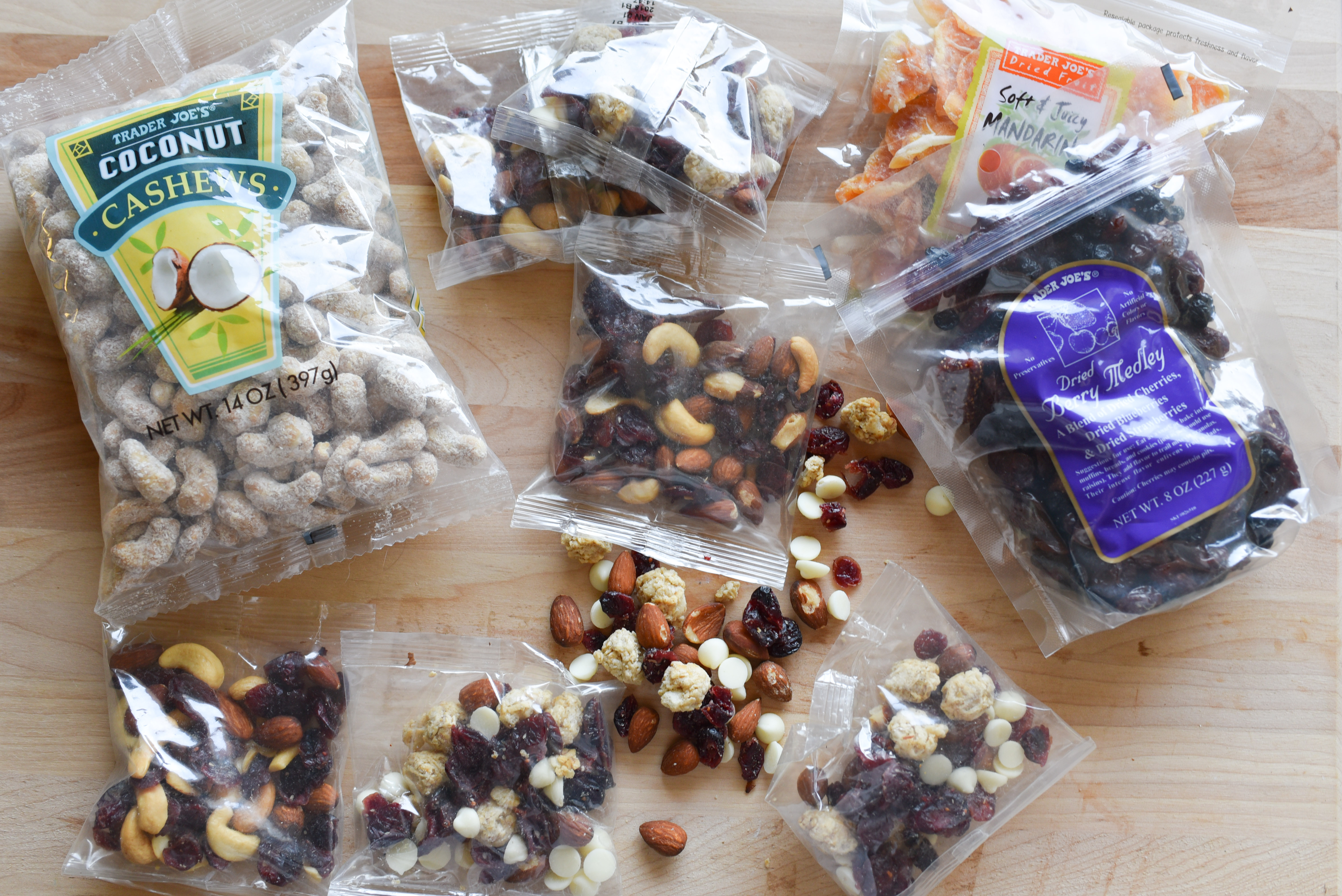 A good trail mix filled with mainly nuts and dried fruits can help keep hunger at bay and energy levels high. (Image: Rebecca Mongrain/Seattle Refined)