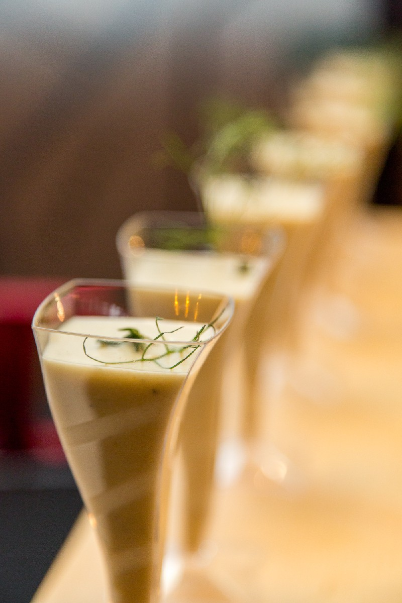 Celery root bisque shooters (Image: Daniel Smyth Photography)