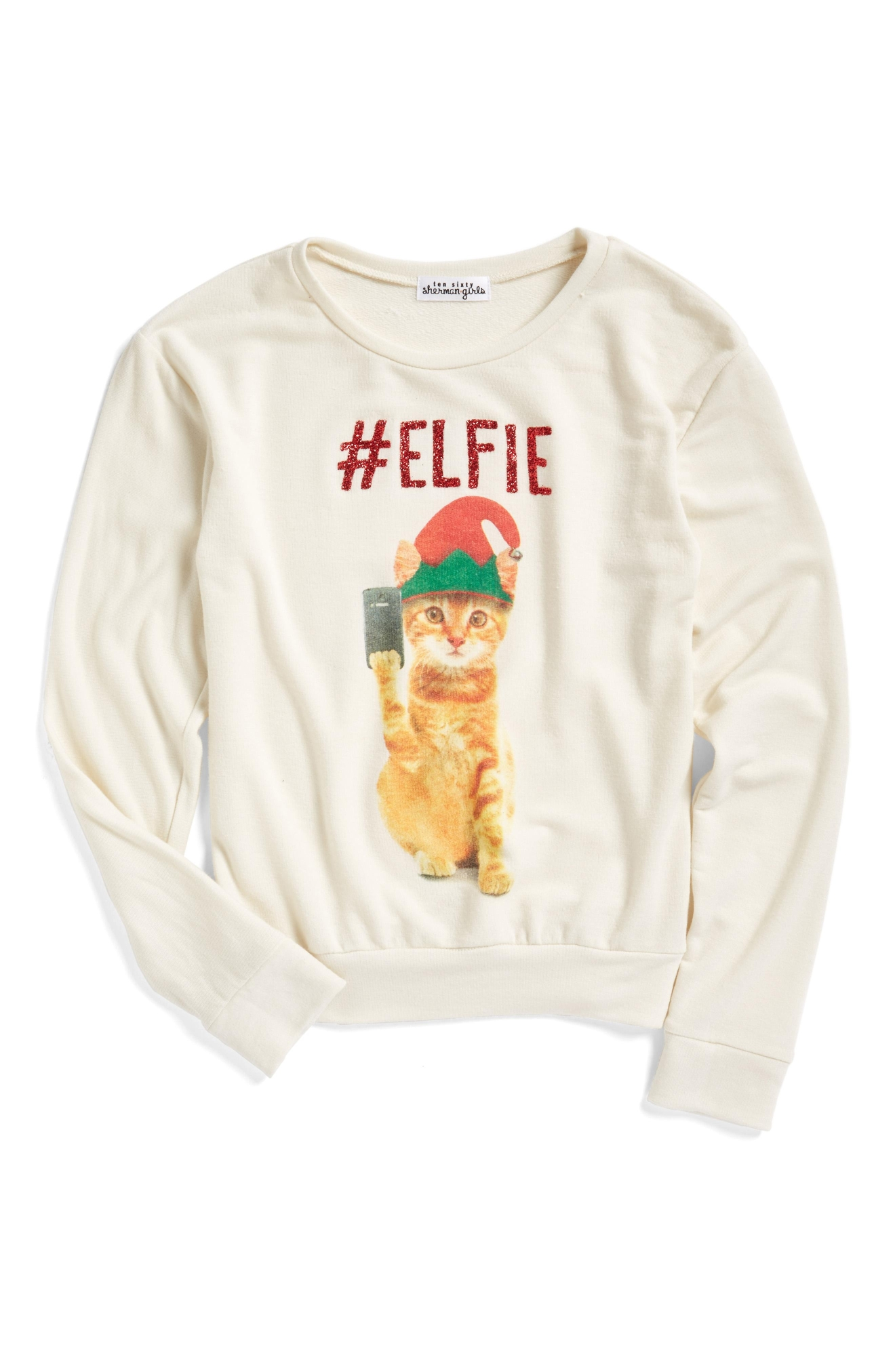 Ten Sixty Sherman #Elfie Graphic Sweatshirt (Little Girls), $32 (Photo: Nordstrom)