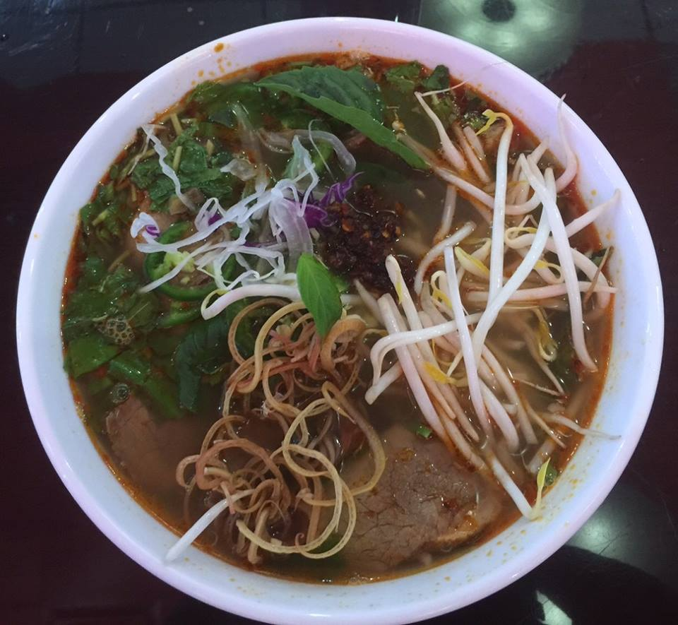 Thanh Van, a vegetarian restaurant, is a great spot to try Bun Bo Hue , or spicy noodle soup. (Image: Courtesy Eden Center){ }