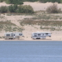 Leaving RV campers unattended to reserve spot at Elephant Butte is not allowed