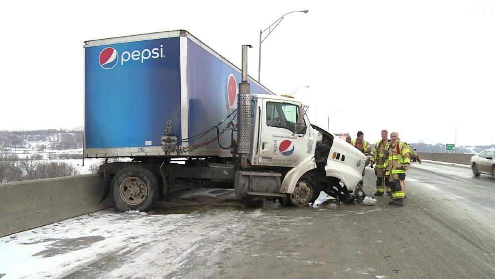 Accident on Highway 20 bridge   KMEG