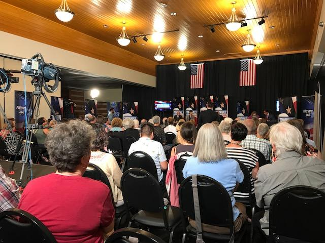 The room was packed for the Town Hall. (Photo Credit: WLOS Staff)