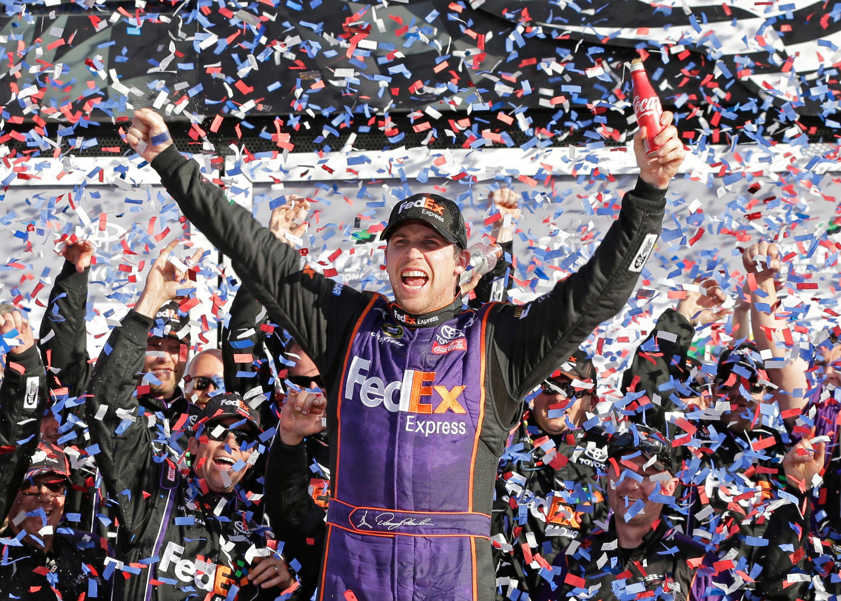 Denny Hamlin wins Daytona 500 in the closest finish in race ...