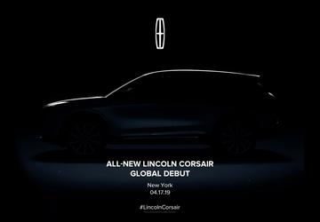 Lincoln to introduce Corsair at New York Auto Show