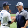Gainesville coach throws out ceremonial first pitch before Rays game