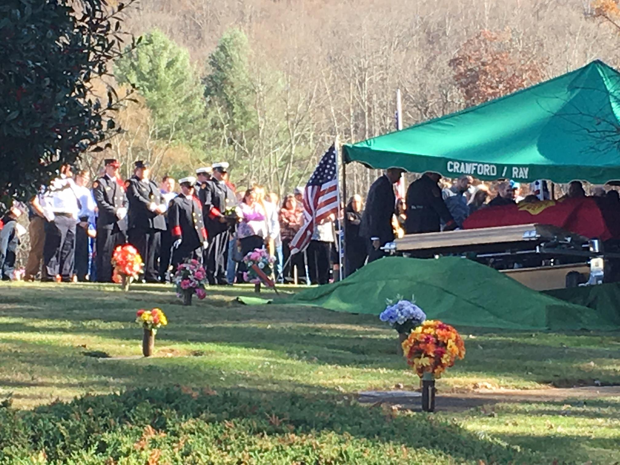 Boney Summey, one of the victims in a September wagon train crash in Haywood County, was laid to rest Friday afternoon. (Photo credit: WLOS staff)