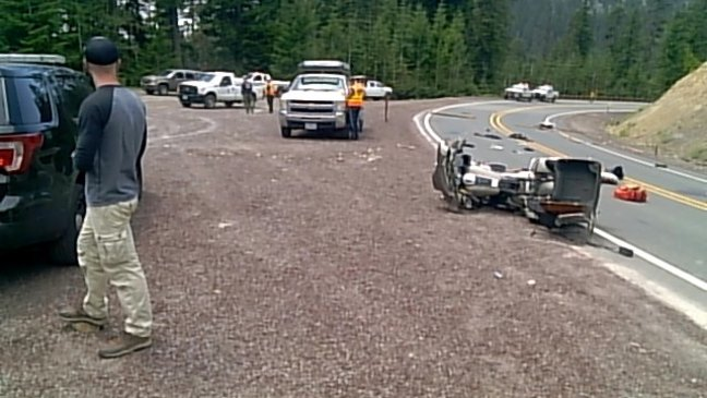 Brookings man dies in motorcycle crash avoiding lumber spilled from Forest Service rig