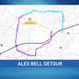 Alex Bell Road bridge to be closed for 90 days