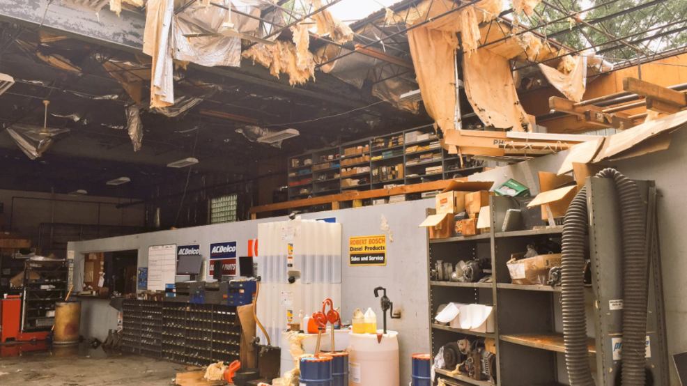 Days Later Local Auto Shop Still Picking Up Pieces After