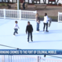 Ice skating rink at Fort of Colonial Mobile drawing crowds downtown
