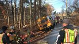 Special needs student, 2 others rescued after bus teetered over Md. ravine, officials say