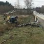 1 taken to hospital after rollover on I-5 near Arlington