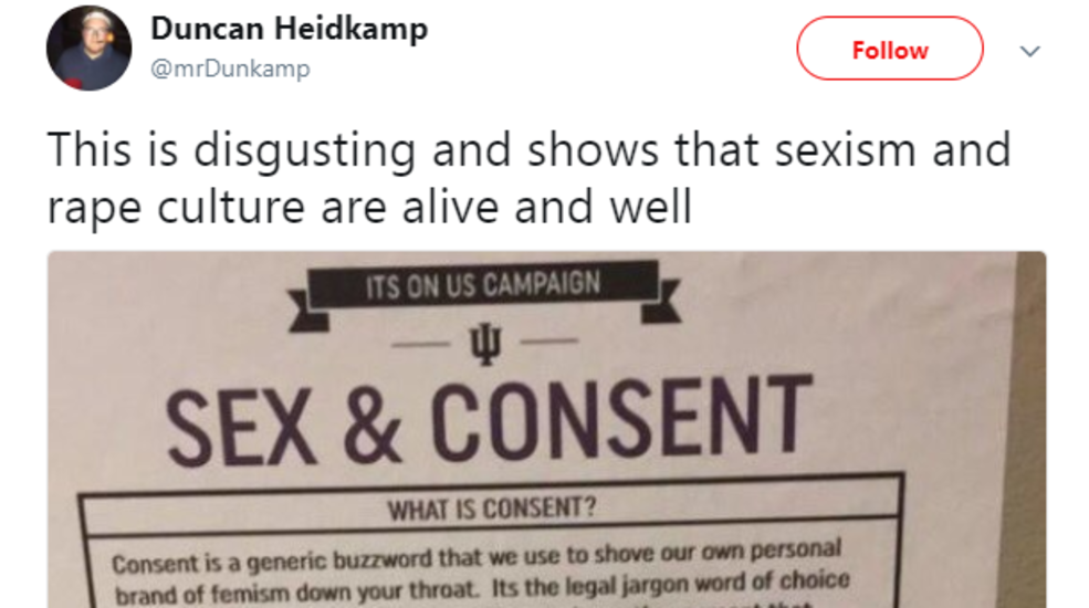 Fake flyer mocking sexual assault posted around Indiana University campus
