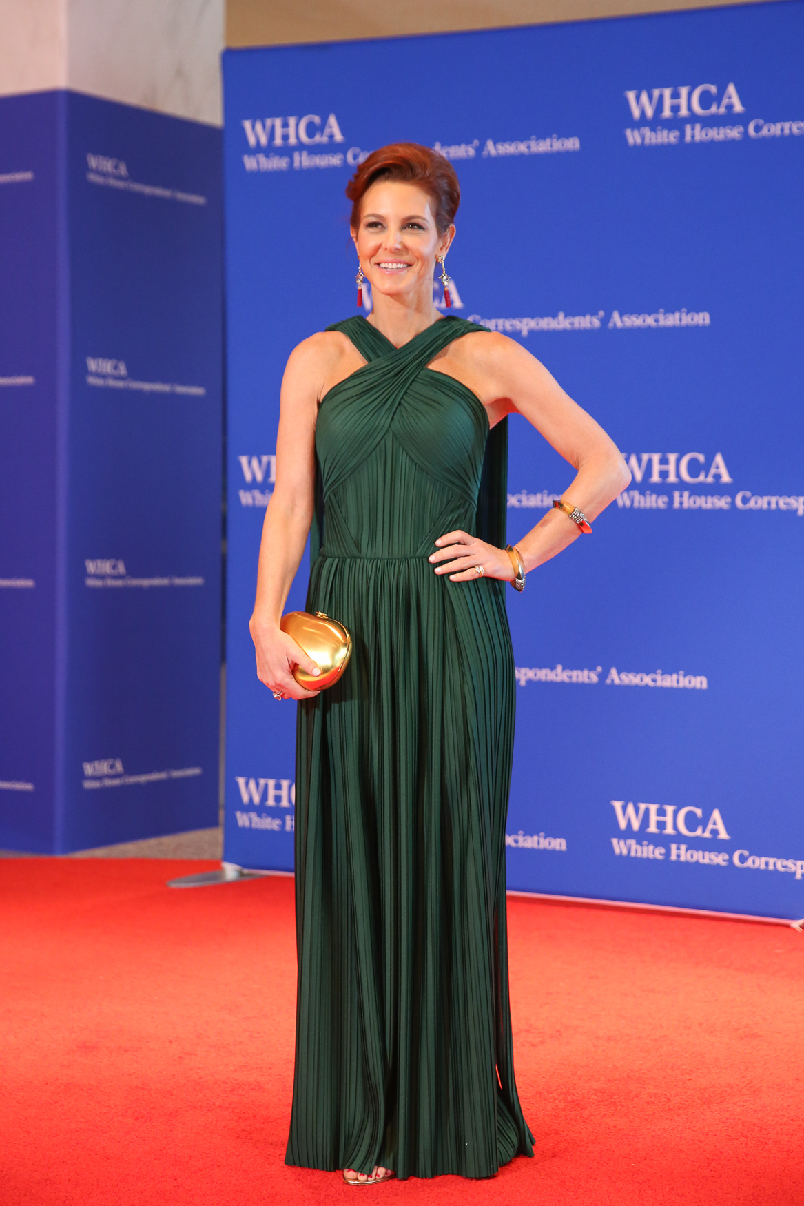 This gorgeous green frock was eye-catching to say the least!{ }(Amanda Andrade-Rhoades/DC Refined)