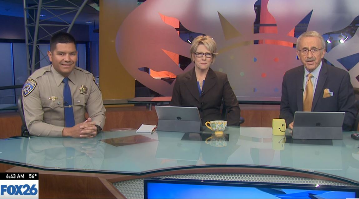 CHP Officer Robert Montano visited Great Day to talk about the Graduation Driver's License Program