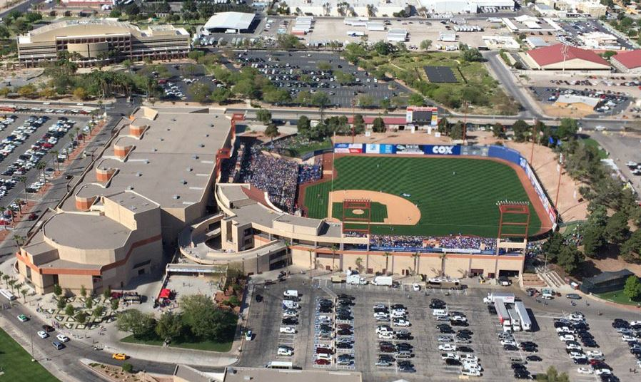 The annual Big League Weekend between the Chicago Cubs and Cincinnati Reds at Cashman Field takes place Saturday, March 25, 2017, in Las Vegas. (Tom Hawley/KSNV)